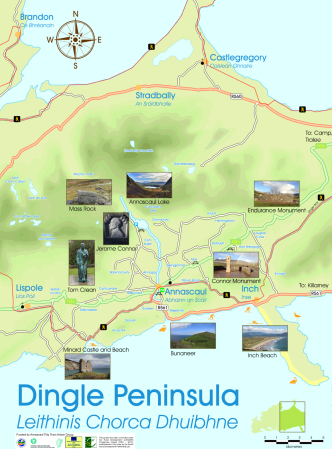Annascaul tourist map