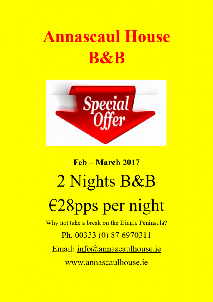 Annascaul House B&B Special Offer